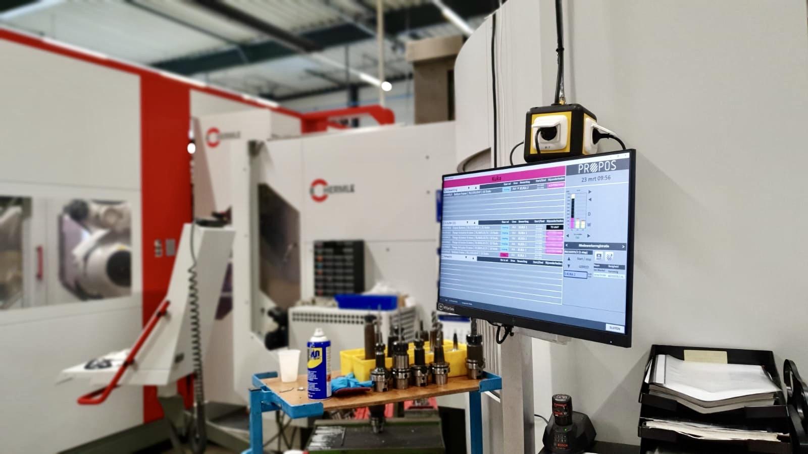 propos shop floor control bij SAM precision mkg-5 realtime inzicht