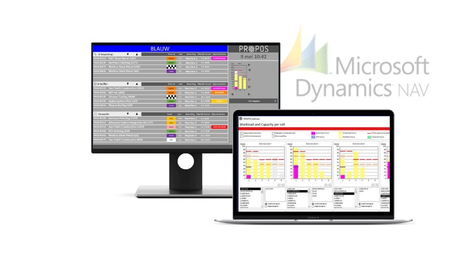 ERP Navision productieplanning -