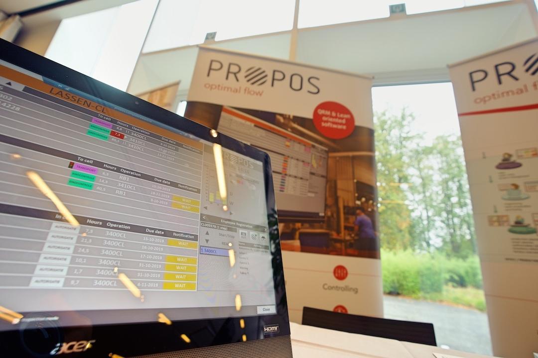 lean lead agoria propos stand shop floor control scherm